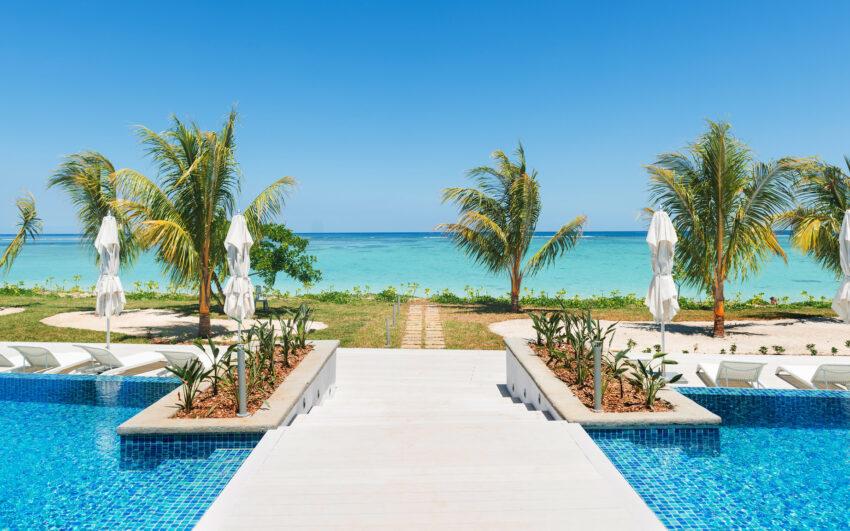 Cap West beach pool sun deck