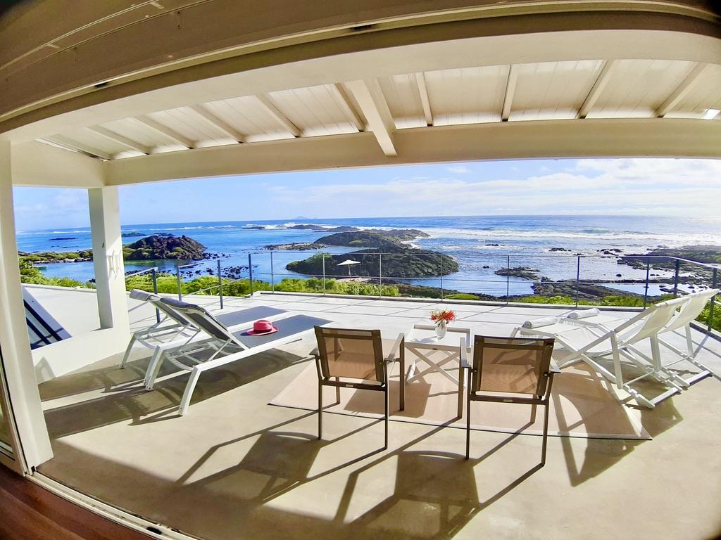 Villa Brisa terrace first floor sea view