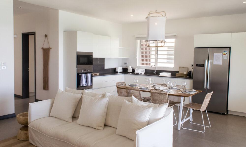 O'Biches first floor living open kitchen