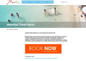 Quarantine procedrues Mauritius