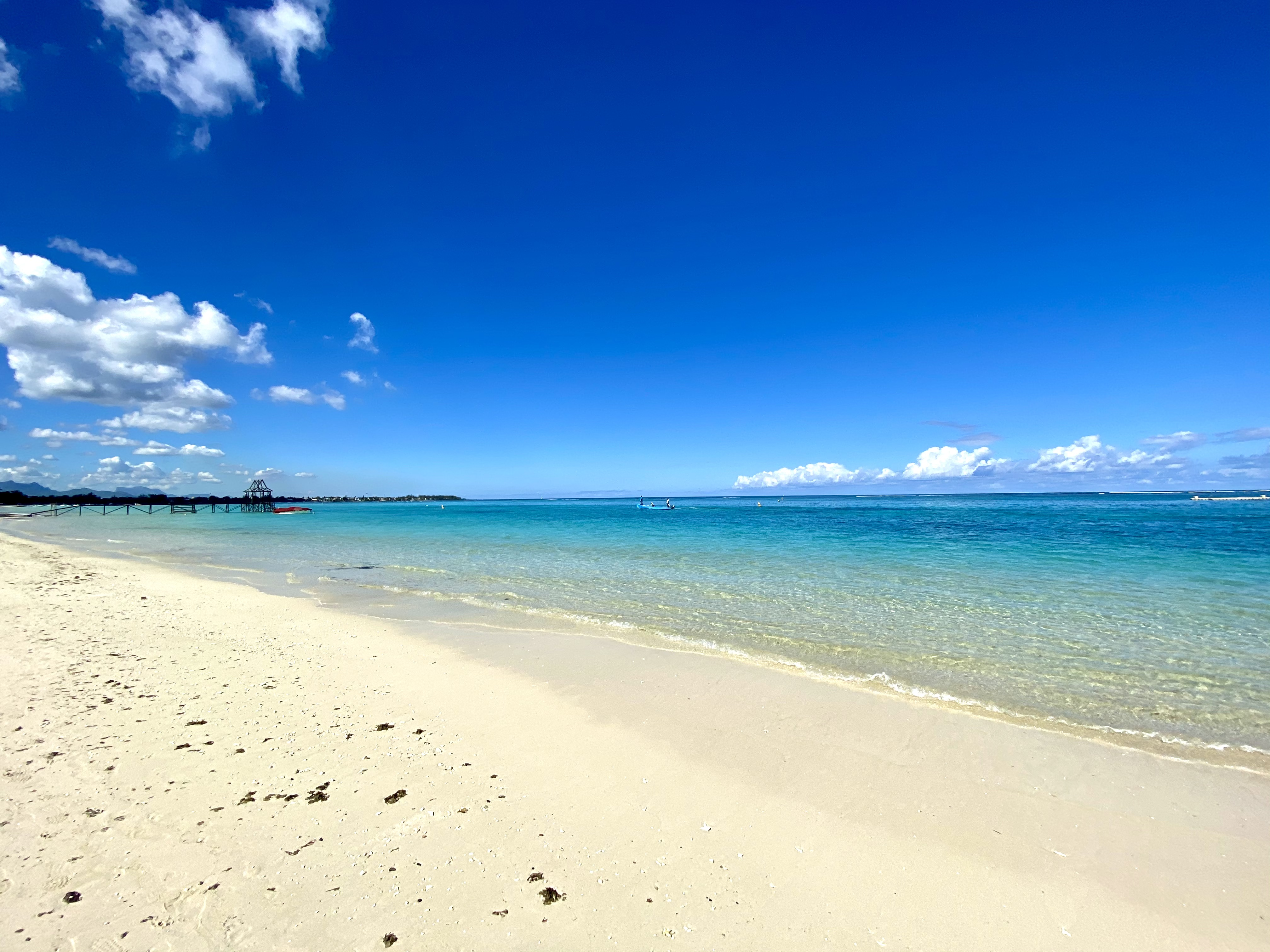 beach to the left trou aux biches